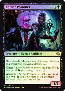 Aether Poisoner - Common FOIL  AER051F Wizards Of the Coast | Cardboard Memories Inc.
