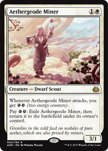 Aethergeode Miner - Rare  AER004 Wizards of the Coast | Cardboard Memories Inc.