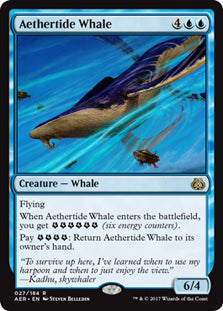 Aethertide Whale - Rare  AER027 Wizards of the Coast | Cardboard Memories Inc.