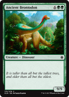 Ancient Brontodon - Common - XLN175 Wizards of the Coast | Cardboard Memories Inc.