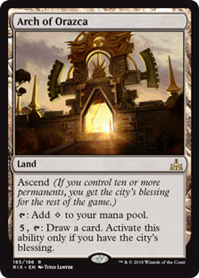 Arch of Orazca - Rare - RIX185 Wizards of the Coast | Cardboard Memories Inc.