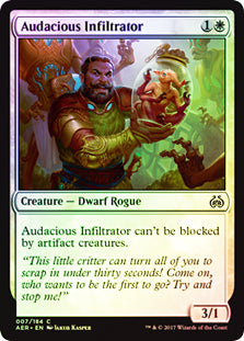 Audacious Infiltrator - Common FOIL  AER007F Wizards of the Coast | Cardboard Memories Inc.
