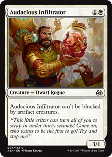Audacious Infiltrator - Common  AER007 Wizards of the Coast | Cardboard Memories Inc.