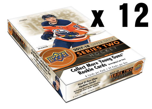 2017-18 Upper Deck Series 2 Hockey Hobby Case (12) Upper Deck | Cardboard Memories Inc.