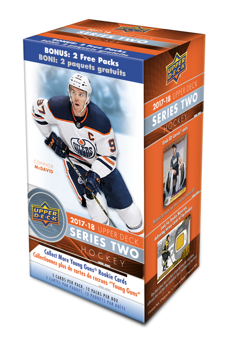 2017-18 Upper Deck Series 2 Hockey Blaster Box Upper Deck | Cardboard Memories Inc.