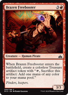 Brazen Freebooter - Common - RIX095 Wizards of the Coast | Cardboard Memories Inc.