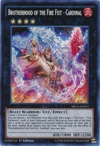 Konami - Yu-Gi-Oh! - Brotherhood of the Fire Fist - Cardinal - Secret Rare 1st Edition - MP14-EN031