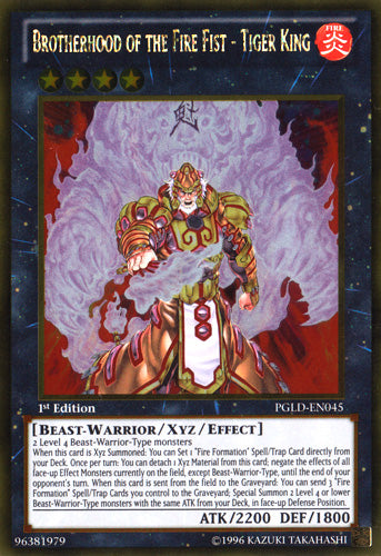 Brotherhood of the Fire Fist - Tiger King - Gold Rare - PGLD-EN045