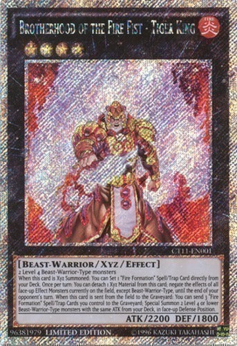 Brotherhood of the Fire Fist - Tiger King - Platinum Rare - CT11-EN001