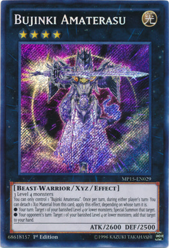 Bujinki Amaterasu - Secret Rare - MP15-EN029