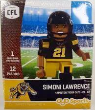 CFL OYO Hamilton Tiger Cats Simoni Lawrence Oyo Figures | Cardboard Memories Inc.