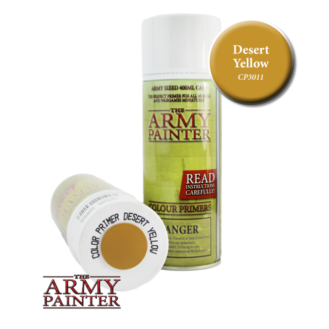 Army Painter - Colour Primer Desert Yellow The Army Painter | Cardboard Memories Inc.