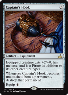 Captain's Hook - Rare - RIX177 Wizards of the Coast | Cardboard Memories Inc.