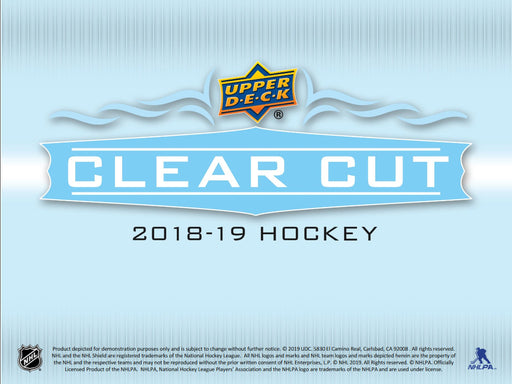 2018-19 Upper Deck - Clear Cuts - 30 Box Master Case (Pre-Order August 14th, 2019)