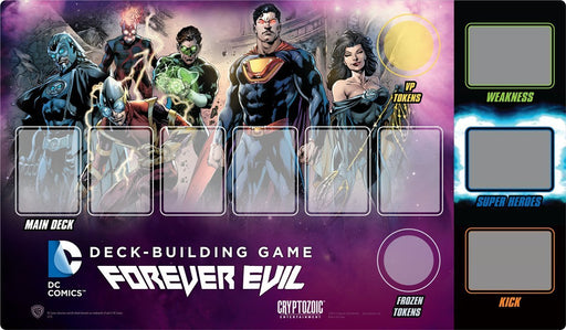DC Comics Deck-Building Game Playmat - Forever Evil Cryptozoic | Cardboard Memories Inc.