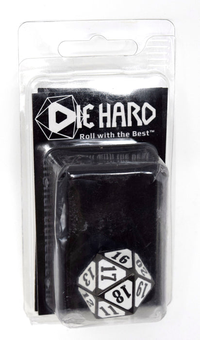 Die Hard Dice - Metal MTG Roll Down Counter Sinister White - D20