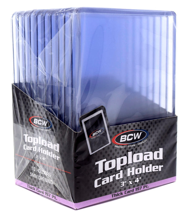 BCW - Top Loaders - 3x4 Thick 197pt - 10-Pack Combo