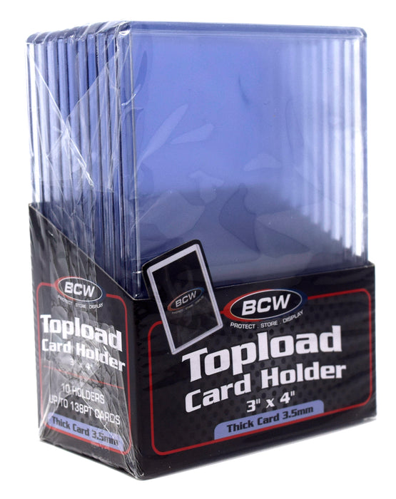 BCW Top Loaders - 3x4 Thick 138pt (4-Pack Combo)