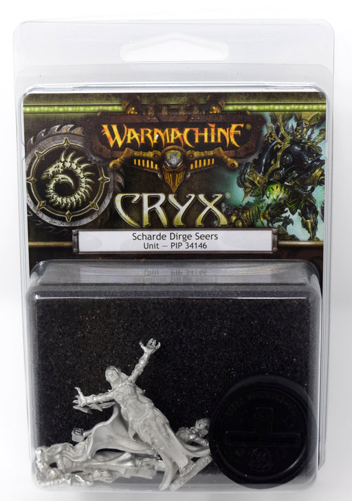 Warmachine - Cryx - Scharde Dirge Seers Unit - PIP 34146 Privateer Press | Cardboard Memories Inc.