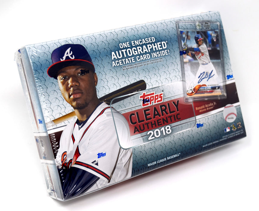 Topps - 2018 - Baseball - Clearly Authentic - Hobby Box