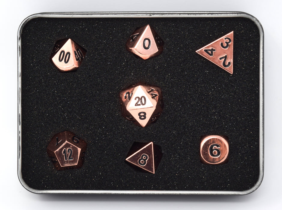 Die Hard Dice - RPG Metal Shiny Copper - Set of 7