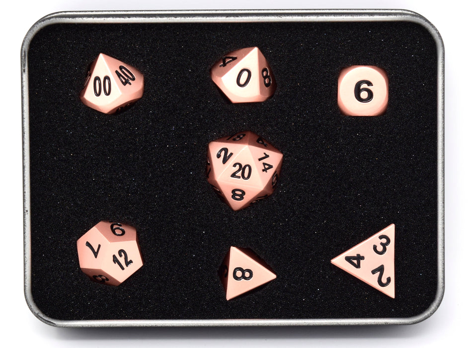 Die Hard Dice - RPG Metal Brilliant Copper - Set of 7