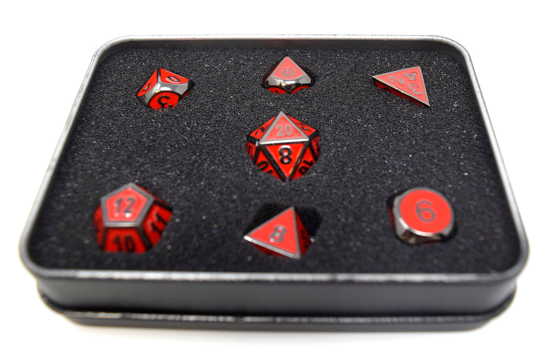 Die Hard Dice - RPG Gothica Metal Sinister Red - Set of 7