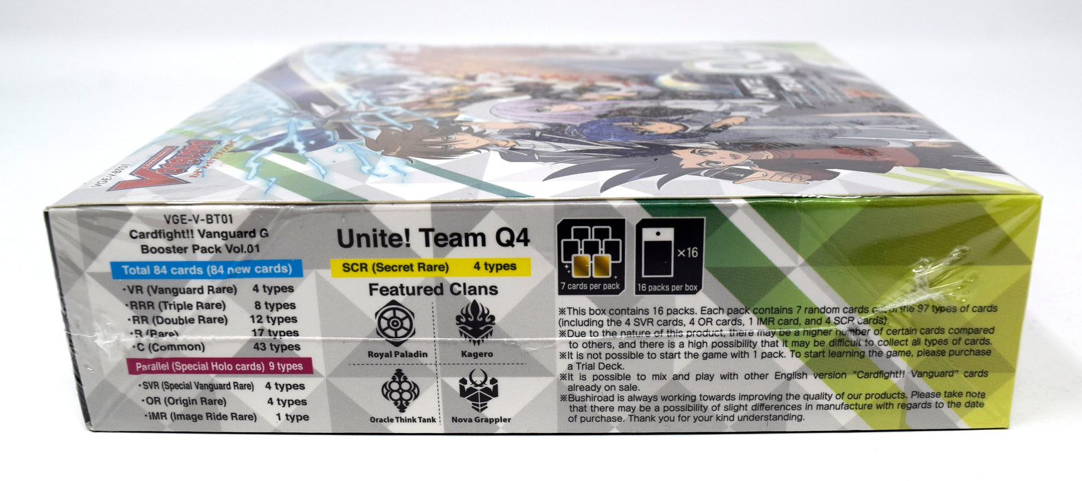 Cardfight!! Vanguard - Unite! Team Q4 Booster Box