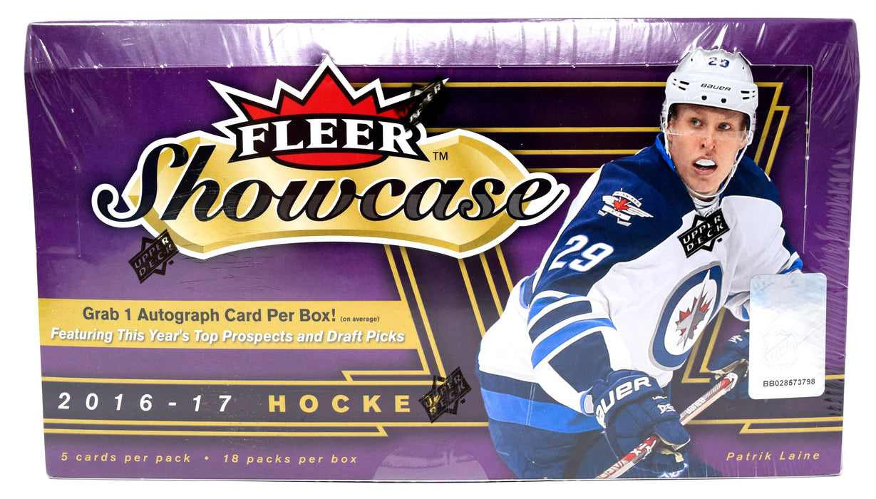 2016-17 Upper Deck Fleer Showcase Hockey Hobby Box