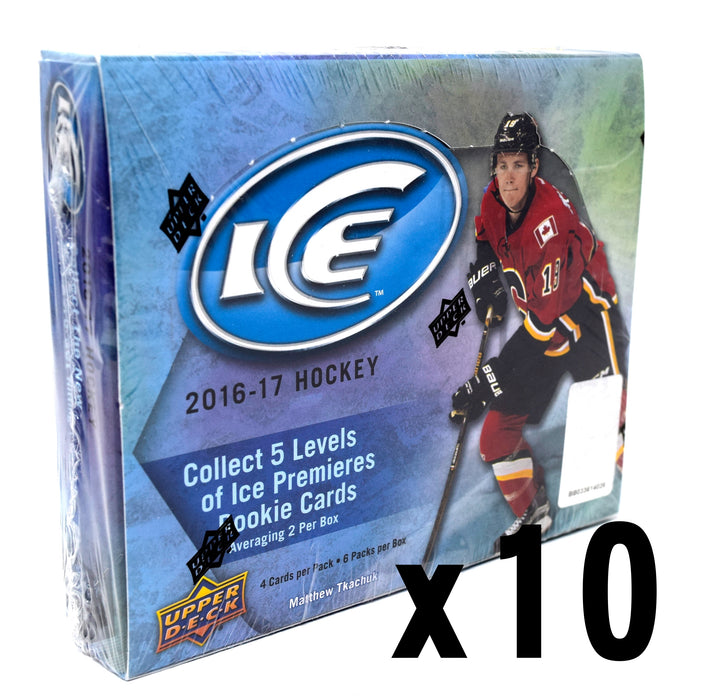 2016-17 Upper Deck Ice Hockey Hobby 10 Box Inner Case