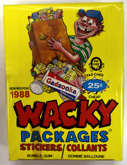 1988 O-Pee-Chee Wacky Packages Sticker Box O-Pee-Chee | Cardboard Memories Inc.