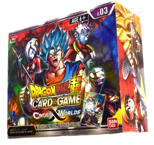 Dragon Ball Super - Cross Worlds Booster Box Bandai | Cardboard Memories Inc.