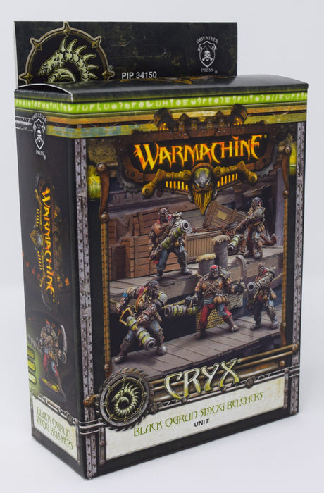 Warmachine - Cryx - Black Ogrun Smog Belchers Unit - PIP 34150 Privateer Press | Cardboard Memories Inc.