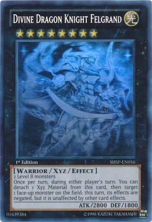 Konami - Yu-Gi-Oh! - Divine Dragon Knight Felgrand - Ghost Rare Unlimited - SHSP-EN056