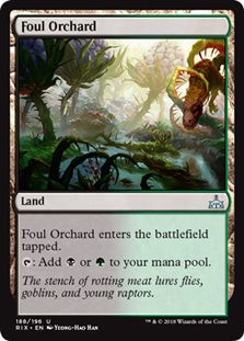 Foul Orchard - Uncommon - RIX188 Wizards of the Coast | Cardboard Memories Inc.