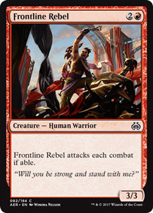 Frontline Rebel - AER082 Wizards of the Coast | Cardboard Memories Inc.