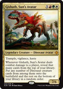Gishath, Sun's Avatar - Mythic - XLN222 Wizards of the Coast | Cardboard Memories Inc.