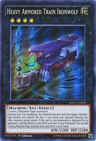 Konami - Yu-Gi-Oh! - Heavy Armored Train Ironwolf - Super Rare Unlimited - RATE-EN050