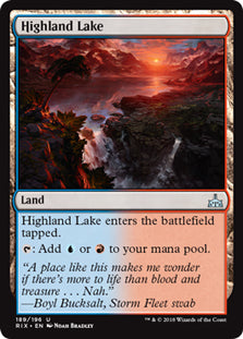 Highland Lake - Uncommon - RIX189 Wizards of the Coast | Cardboard Memories Inc.