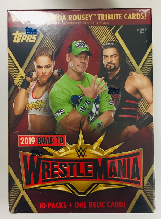 2019 Topps Road to Wrestlemania WWE Value Box
