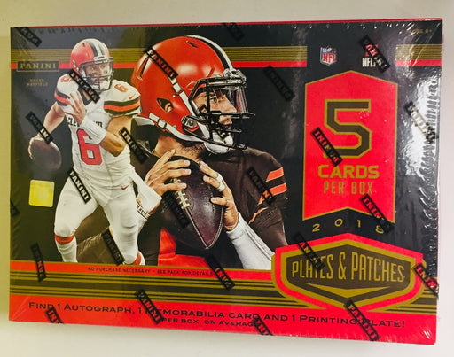 2018 Panini - Plates & Patches Football - Hobby Box