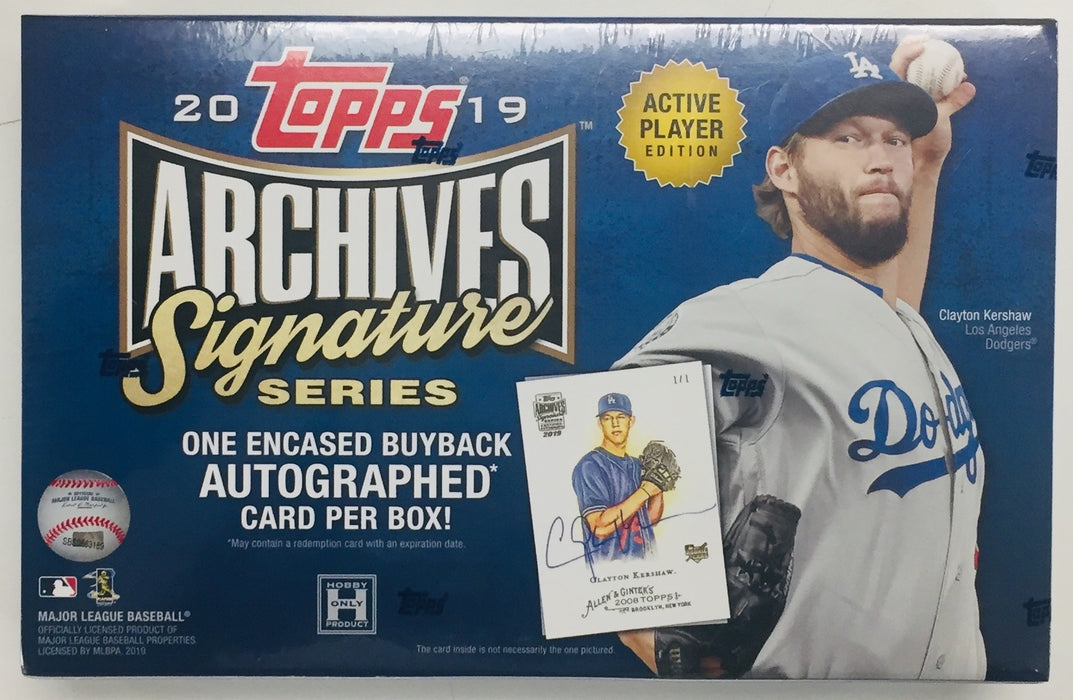 Topps - 2019 - Baseball - Archives Signature Series - Active Player Edition - Hobby Box