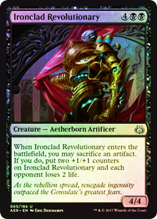 Ironclad Revolutionary - Uncommon FOIL  AER065F Wizards of the Coast | Cardboard Memories Inc.
