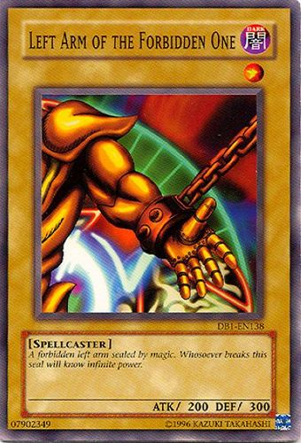 Left Arm of the Forbidden One - Common - DB1-EN138