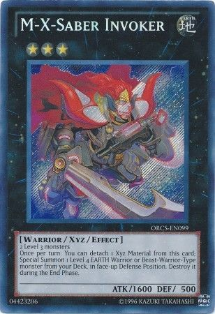 M-X-Saber Invoker - Secret Rare Unlimited - ORCS-EN099