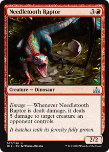 Needletooth Raptor - Uncommon - RIX107 Wizards of the Coast | Cardboard Memories Inc.