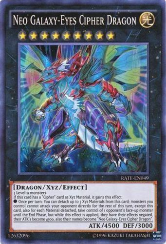 Neo Galaxy-Eyes Cipher Dragon - Super Rare Unlimited - RATE-EN049