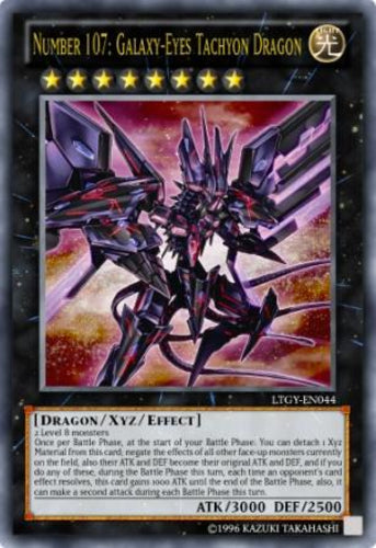 Number 107: Galaxy-Eyes Tachyon Dragon - Ultra Rare Unlimited - LTGY-EN044