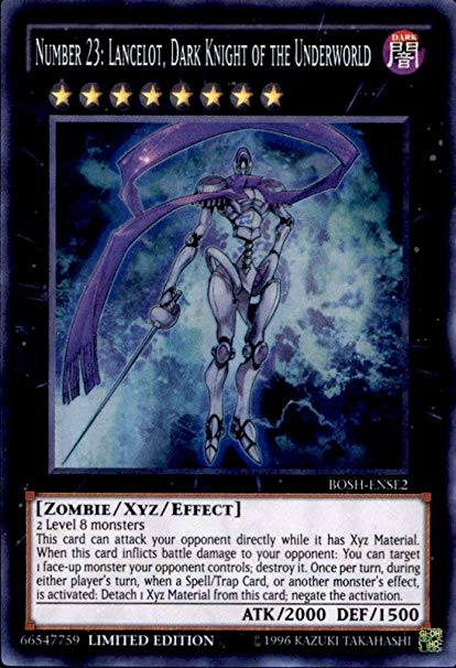 Number 23: Lancelot, Dark Knight of the Underworld - Super Rare - BOSH-ENSE2