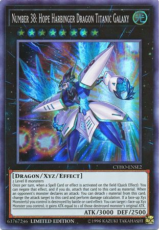 Number 38: Hope Harbinger Dragon Titanic Galaxy - Super Rare - CYHO-ENSE2